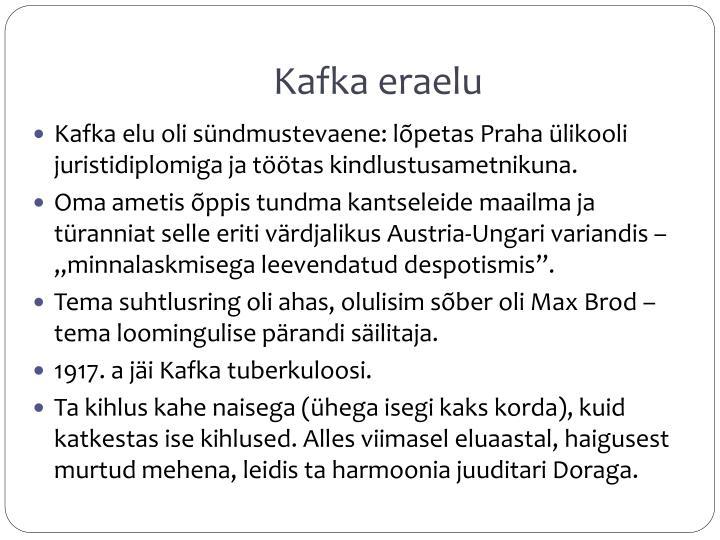 Kafka eraelu