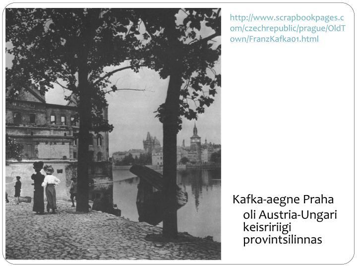 http://www.scrapbookpages.com/czechrepublic/prague/OldTown/FranzKafka01.html