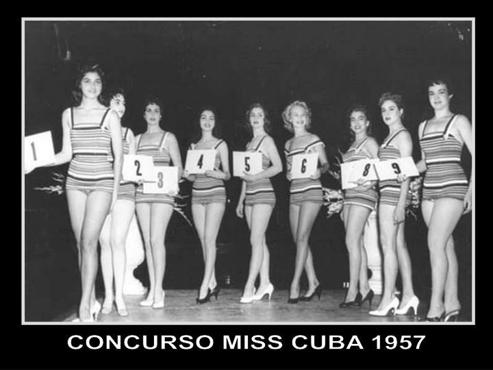 CONCURSO MISS CUBA 1957