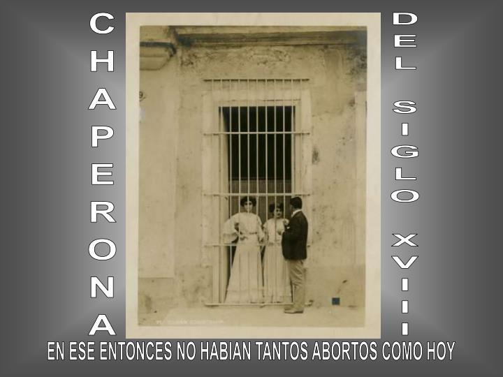 CHAPERONA