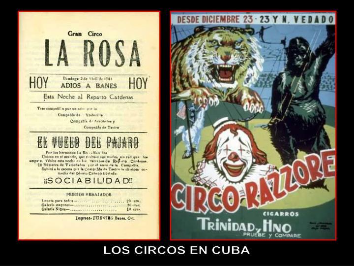 LOS CIRCOS EN CUBA