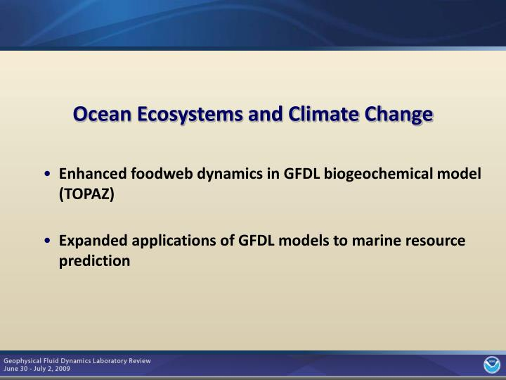 Ocean Ecosystems and Climate Change