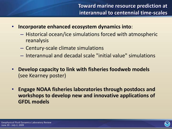 Incorporate enhanced ecosystem dynamics into