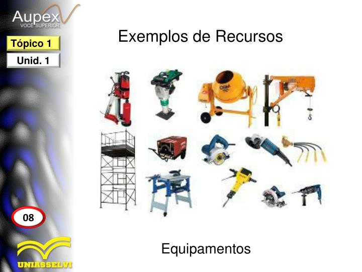 Exemplos de Recursos