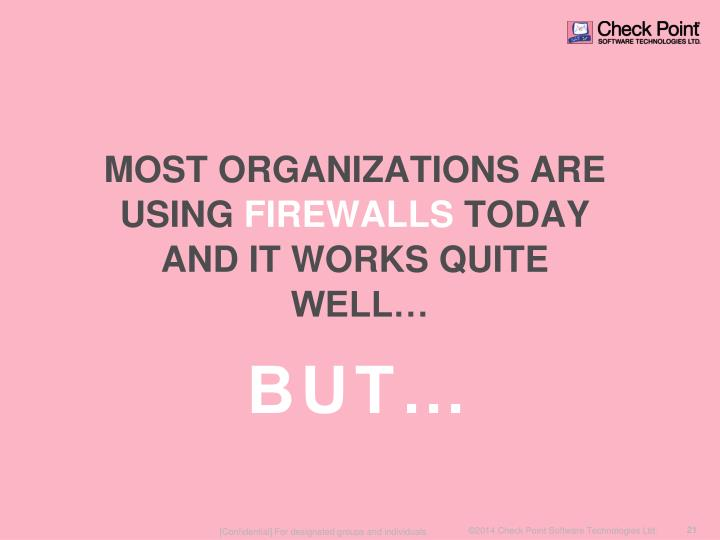 MOST ORGANIZATIONS ARE