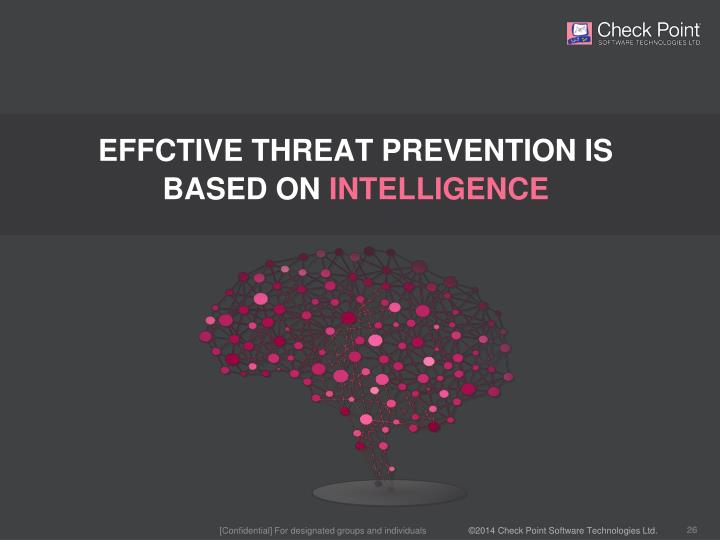EFFCTIVE THREAT PREVENTION IS
