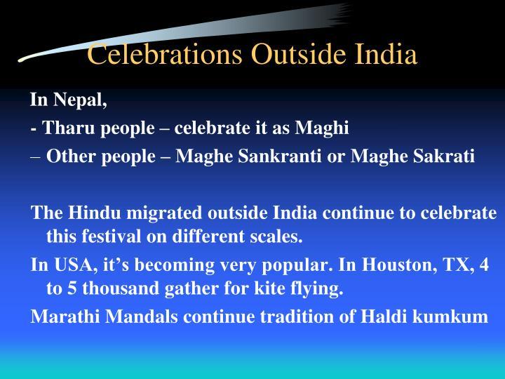 Celebrations Outside India