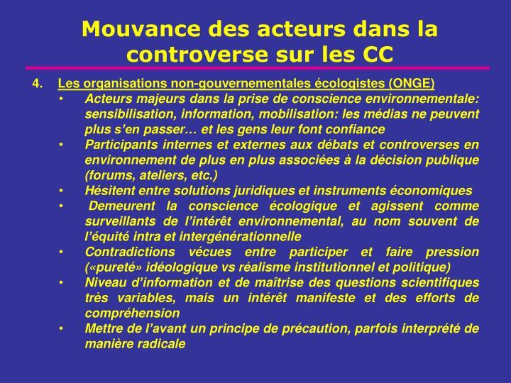 Les organisations non-gouvernementales écologistes (ONGE)