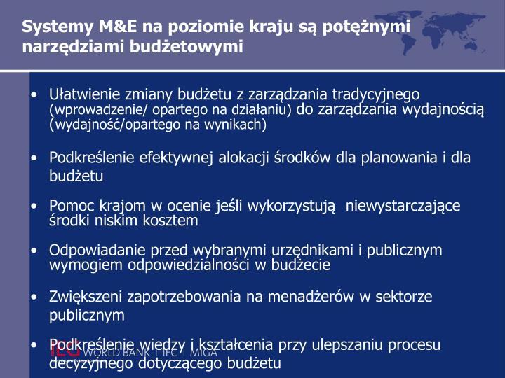 Systemy M&E na poziomie kraju są potężnymi narzędziami budżetowymi