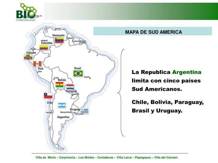 MAPA DE SUD AMERICA