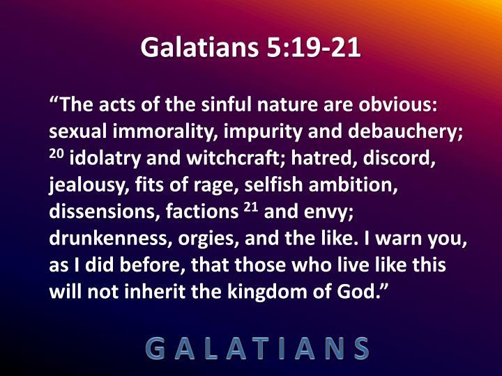 Galatians 5:19-21
