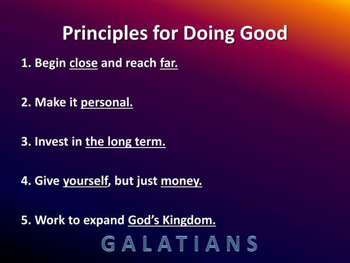 Principles for Doing Good