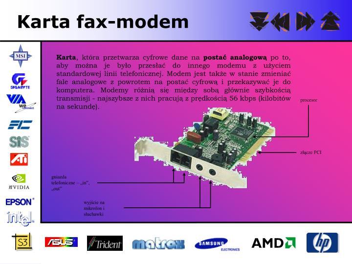 Karta fax-modem