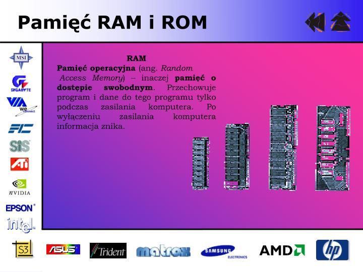 Pamięć RAM i ROM