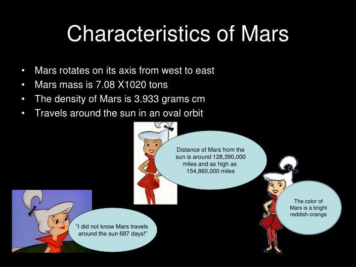 Characteristics of Mars