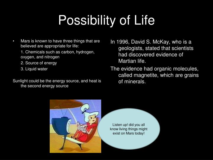 Possibility of Life
