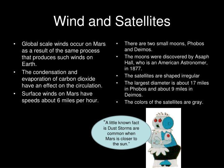 Wind and Satellites