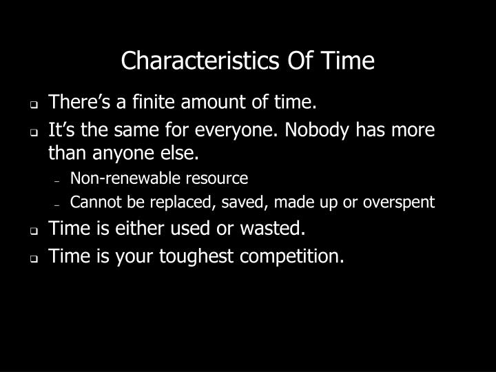 Characteristics Of Time