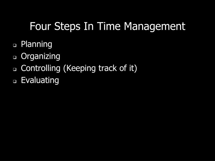 Four Steps In Time Management