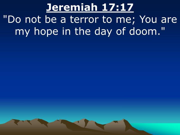 Jeremiah 17:17