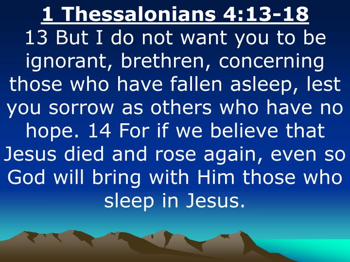 1 Thessalonians 4:13-18