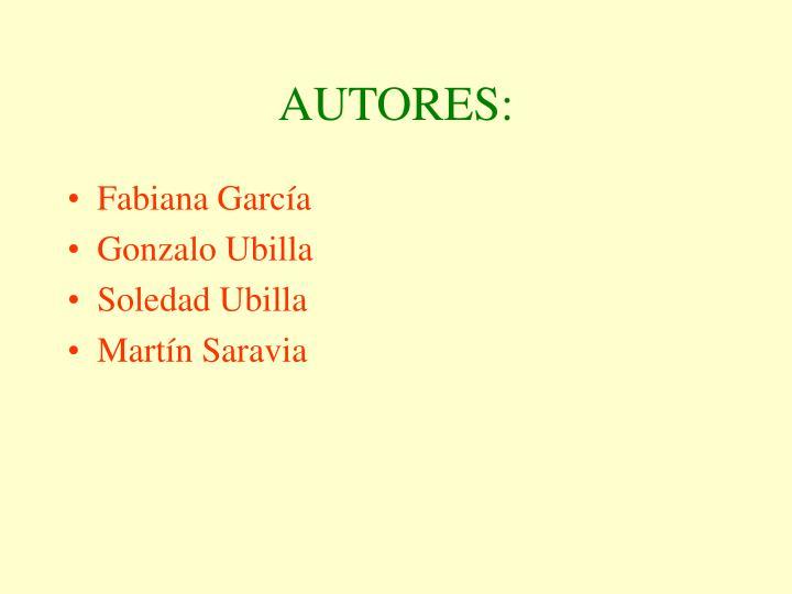 AUTORES: