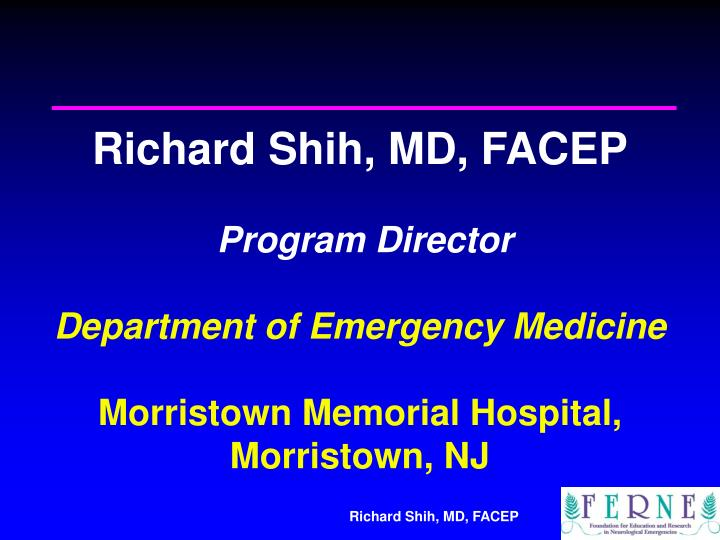 Richard Shih, MD, FACEP