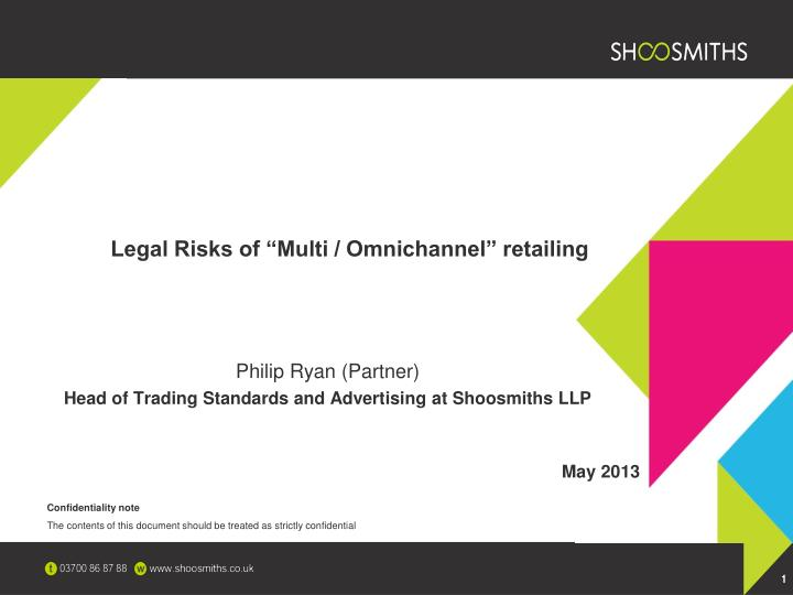 Legal risks of multi omnichannel retailing