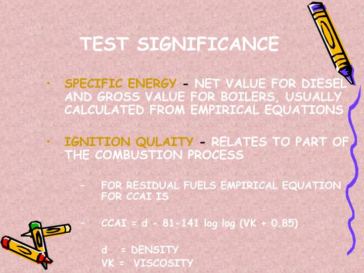 TEST SIGNIFICANCE