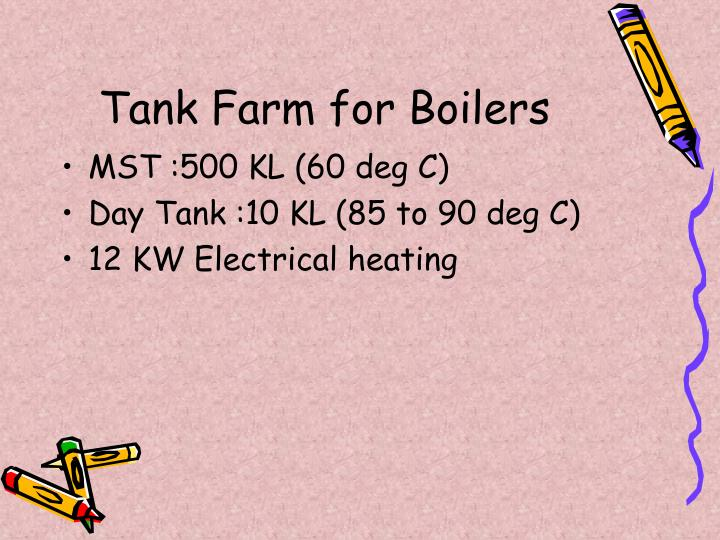 Tank Farm for Boilers