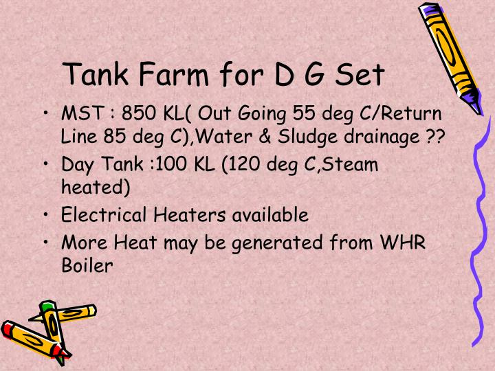 Tank Farm for D G Set