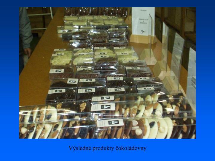 Výsledné produkty čokoládovny