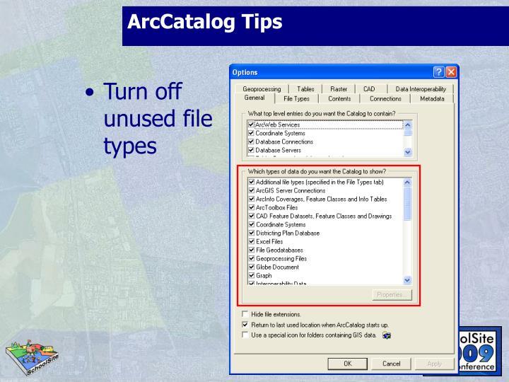 ArcCatalog Tips