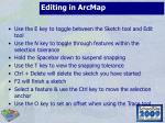 editing in arcmap