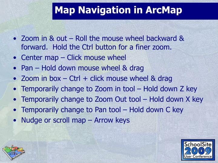 Map Navigation in ArcMap