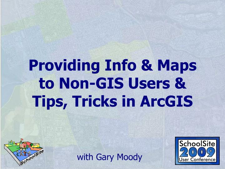 Providing info maps to non gis users tips tricks in arcgis