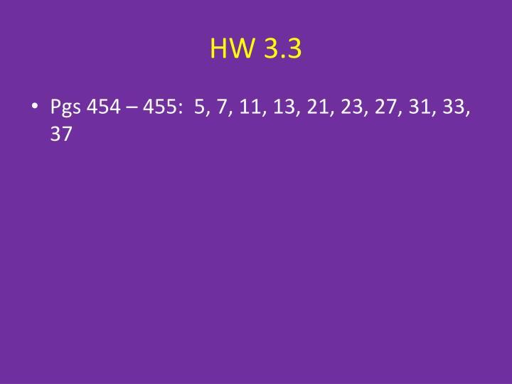 HW 3.3
