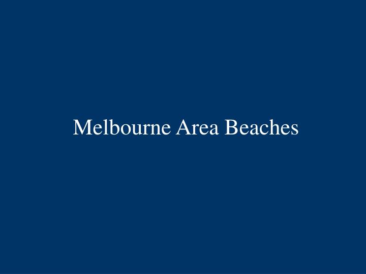 Melbourne area beaches