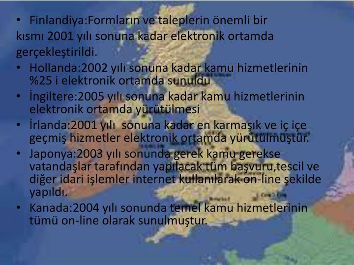Finlandiya:Formların ve taleplerin önemli bir