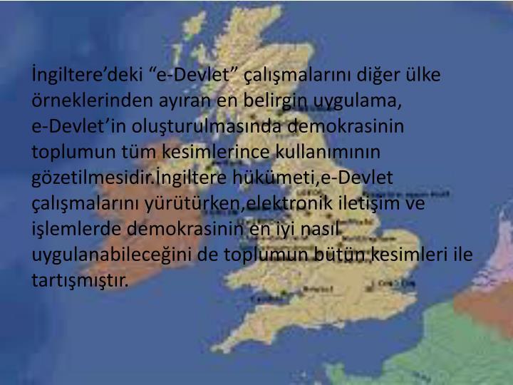 """İngiltere'deki """"e-Devlet"""" çalışmalarını diğer ülke"""
