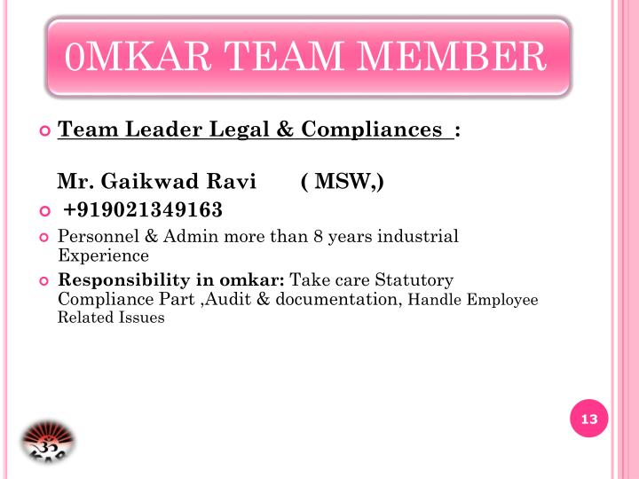 Team Leader Legal & Compliances