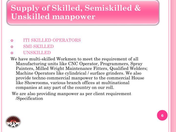 ITI SKILLED OPERATORS