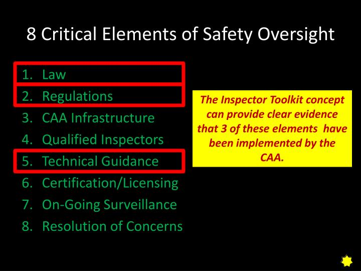 8 Critical Elements of Safety Oversight