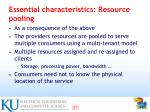 essential characteristics resource pooling