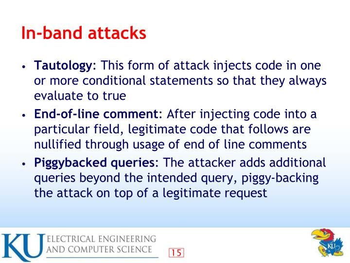 In-band attacks
