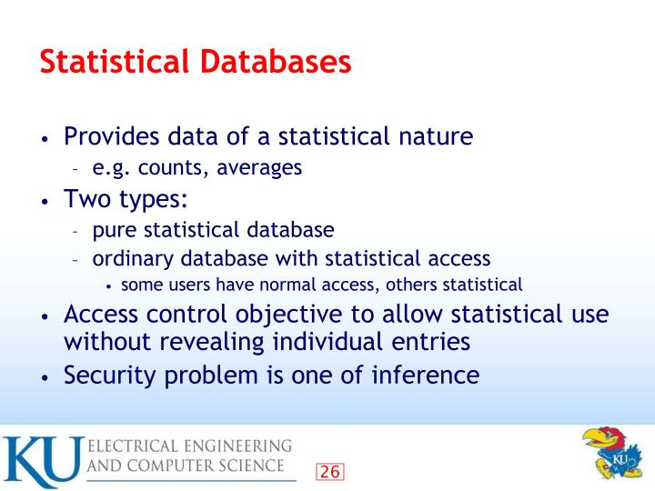 Statistical Databases