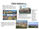 citt italiane e