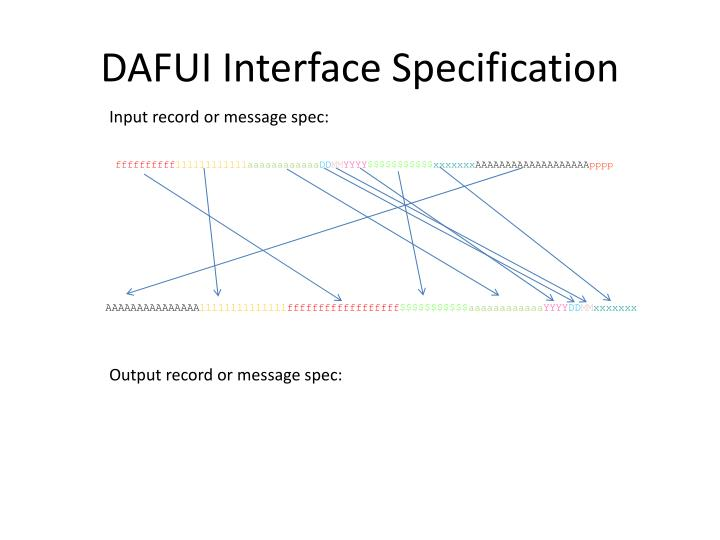 DAFUI Interface Specification