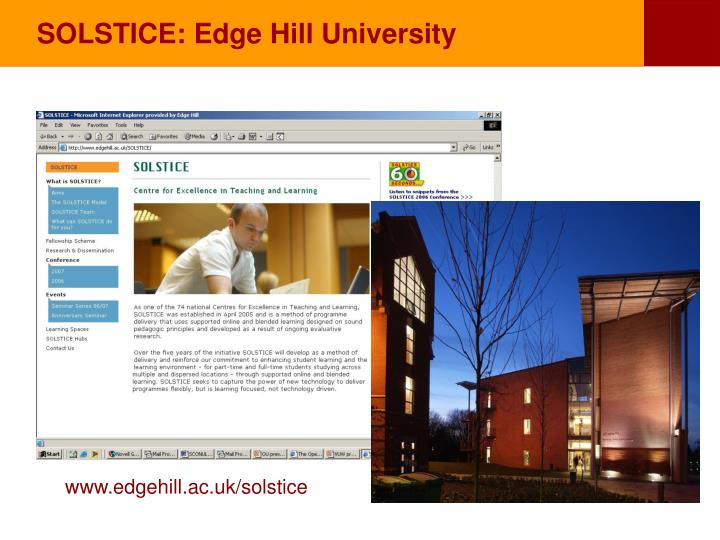 SOLSTICE: Edge Hill University