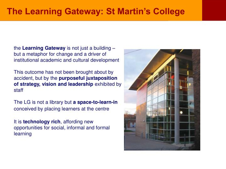 The Learning Gateway: St Martin's College